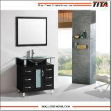 2016緩和されたガラスの純木の浴室の家具T9142c