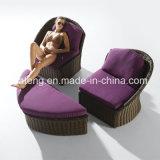 PET Rattan-im Freien Garten-Sofa-gesetztes einzelnes Sofa-gesetztes doppeltes Sofa-Set