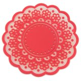 1PCS Fresh Flowers Round Silicone Coasters Candy Color Isolation Pads Placemats Cup Mats