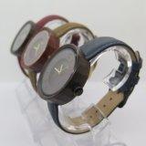 Relógio de senhoras do relógio da cinta de relógios do Sandalwood do OEM
