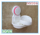 De Houder van de Zeep van de Hoek van het toilet met de Verwijderbare Plastic Schotel van de Zeep
