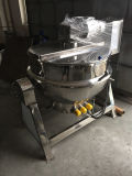 Caldera de cocinar industrial de cocinar vestida de la caldera del vapor de 500 litros