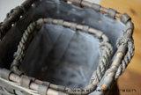 회색 Color Quadtate Wicker Basket, Stay Plant.를 위한 Suitable