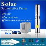 Pompe profonde submersible actionnée solaire d'eau de puits avec la batterie