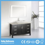 Vanità classica di lusso della stanza da bagno di legno solido con le plance (BV138W)