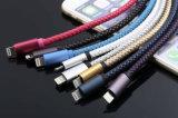 Migliore 2.4A di vendita velocemente che carica il cavo Braided di cuoio del USB dell'unità di elaborazione