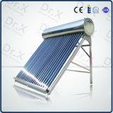 Chauffe-eau solaire évacué non de pression de tube électronique en verre