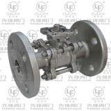 3PC ensanchó postizo de montaje directo de la vávula de bola ISO5211