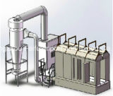 Linha de produção vertical do revestimento do pó