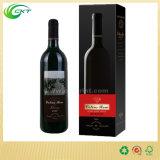 Caja de cartón por encargo del embalaje del vidrio de vino de la botella del claro Single/2 Bottles/3 Bottles6 Bottle/12 (CKT-PB-007)