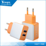 2.1A 2 USB Charger Cell Phone para iPhone / Samsung / Alcatle