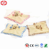 Bear Head Baby Care Wash Cloth Soft Plush Blanket