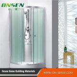 Acquazzone del vapore della stanza da bagno di vetro scuro
