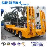 80t 5 Semi Aanhangwagen van de Vrachtwagen van het Lichaam Lowbed/Lowdeck/van de As de Verlengbare Lage Zware