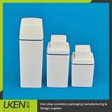 Recipiente di plastica senz'aria quadrato di plastica della bottiglia della pompa dell'estetica 15ml-30ml-50ml pp