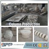 Base de talla natural afilada con piedra de la pista del pilar/de la columna y de columna