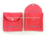 Bolsas impresas botón de encargo de la joyería del terciopelo