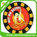 Alta calidad barata de goma suave de silicona Coaster (SLF-RC039)