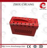 Constructeur en acier rouge de station de nécessaire de verrouillage de sûreté utilisé avec le cadenas