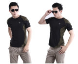 Förster-runde Stutzen-Kampf-schnell trockene Short-Sleeved Mann-im Freient-shirts