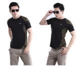 Dos homens Short-Sleeved táticos redondos do combate da garganta das guardas florestais t-shirt ao ar livre