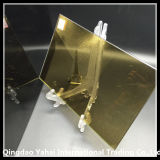 4mm Decorative Pattern Glass с 24k Golden Color