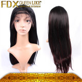 Neues Coming Mongolian Natural Menschenhaar 100% Full Lace Wig Straight Ombre Hair mit Baby Hair