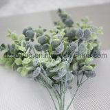 Flocky plástico deja la flor de Aritificial para la boda/la decoración casera/del jardín (SF16296A)