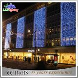 Luz bonita da cortina da luz de Natal da decoração para o edifício