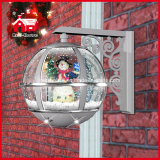 LEDs를 가진 Christmas Snowman Decoration를 위한 은 Round Wall Lamp