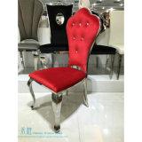 水晶ボタンは飾った椅子(HW-YH106-2C)を食事する赤いファブリック金属を
