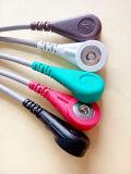 Câble du plastique 6pin 5 ECG de Biosys Snap&Clip