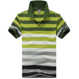 Chemise de polo teinte par filé de raie de la mode des hommes faits sur commande