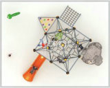 Kaiqi взбираясь напольная спортивная площадка с сетью космоса веревочки и и скольжением (KQ60143B)