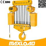 Grua Chain elétrica de 10 toneladas com tipo fixo do gancho (HHBB10-04SF)