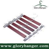 Ganci di legno del pannello esterno della mutanda di rivestimento della noce con le clip registrabili del metallo