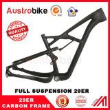 frame cheio 29 do frame MTB da fibra do carbono da suspensão MTB do frame 29er
