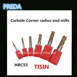 Tisin cubrió los molinos de extremo de la esquina del radio del carburo HRC55