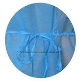 Vestido azul del aislamiento de los PP con los pun¢os de Kintted