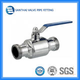 Hygienisches 304/316L Sanitary Valves, Three Way Welded Pneumatic Ball Valve mit Actuator