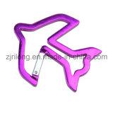 Amo di clip a schiocco di alluminio di Carabiner di Pesce-Figura Keychain