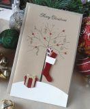 Vrolijke Kerstkaart, de Kaart van de Groet van Kerstmis