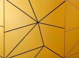 Гиперболичное Golden Stripy Aluminum Panel для торгового центра Commercial