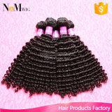 3 pacotes do Weave malaio do cabelo Curly das extensões em linha baratas do cabelo da benevolência do anjo do Weave