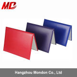 Professional Color Paper Smooth Leatherette Manufactures Custom Certificate Holder/Cover