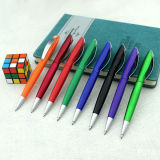 Penna di Ballpoint poco costosa della penna di plastica variopinta su vendita