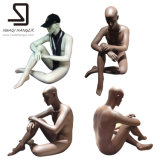 Дешевый мыжской полный манекен тела, сидя манекен
