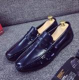Comefortable平らなPUのパテント・レザーの人の靴(DD 03)