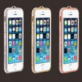Neues LuxuxkristallRhinestone Bling Metalldiamant-Feld-Stoßfall-Deckel für iPhone6