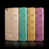 Ultra Thin Colorful Hello Miezekatze TPU Phone Fall mit Diamond für iPhone 6